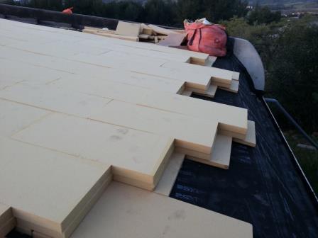 chantier d 39 isolation du toit terrasse d 39 une maison. Black Bedroom Furniture Sets. Home Design Ideas